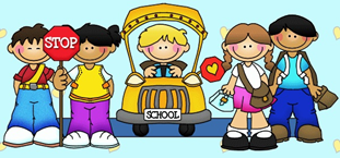 Picture of school bus and students